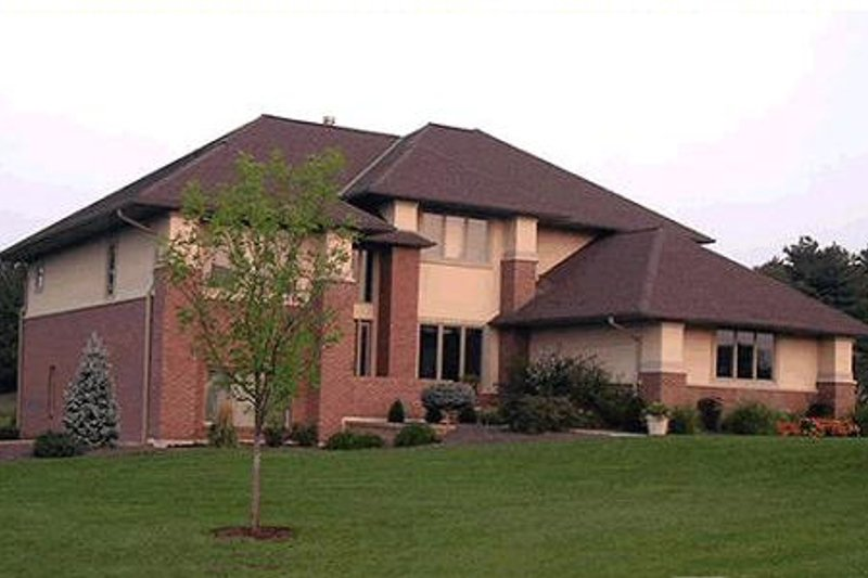 Prairie Exterior - Front Elevation Plan #20-217 - Houseplans.com