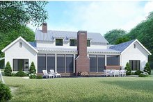 Dream House Plan - Country Exterior - Rear Elevation Plan #923-127