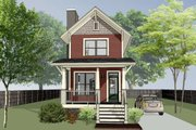 Craftsman Style House Plan - 2 Beds 2.5 Baths 1033 Sq/Ft Plan #79-278 Exterior - Front Elevation