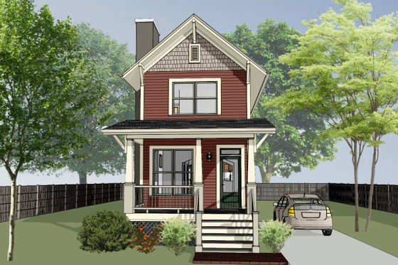 Craftsman Exterior - Front Elevation Plan #79-278