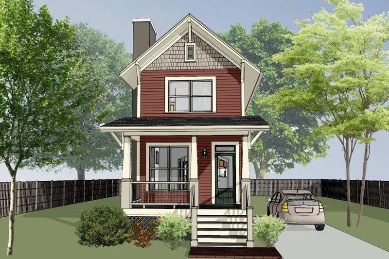Dream House Plan - Craftsman Exterior - Front Elevation Plan #79-278