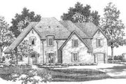 European Style House Plan - 5 Beds 5.5 Baths 5348 Sq/Ft Plan #141-148 Exterior - Front Elevation