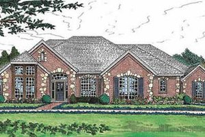 House Plan Design - European Exterior - Front Elevation Plan #310-559