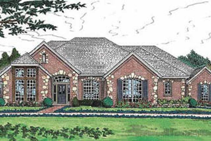 European Exterior - Front Elevation Plan #310-559