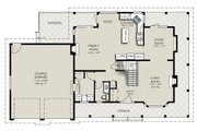 Country Style House Plan - 3 Beds 2.5 Baths 1865 Sq/Ft Plan #427-2 Floor Plan - Main Floor