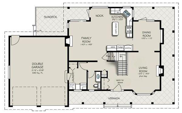 House Design - Country Floor Plan - Main Floor Plan #427-2
