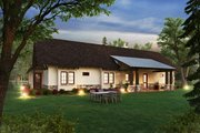 Craftsman Style House Plan - 3 Beds 2.5 Baths 2248 Sq/Ft Plan #942-58 Exterior - Rear Elevation