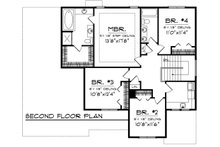 European Floor Plan - Upper Floor Plan Plan #70-1100