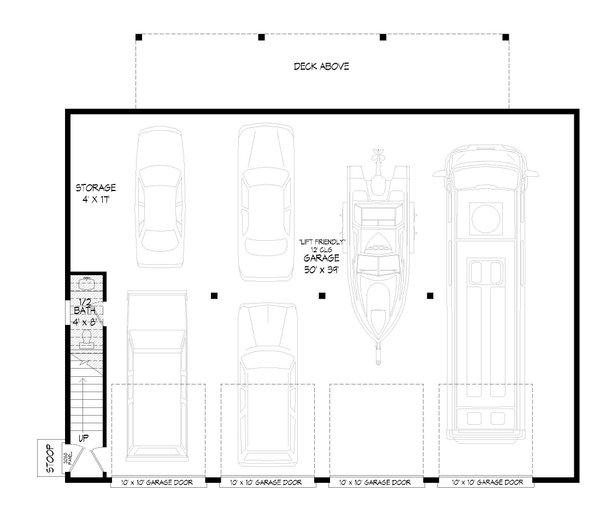 Dream House Plan - Traditional Floor Plan - Main Floor Plan #932-407
