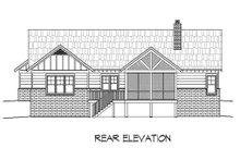 Craftsman Exterior - Rear Elevation Plan #932-10