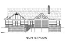 Dream House Plan - Craftsman Exterior - Rear Elevation Plan #932-10