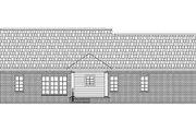 Traditional Style House Plan - 3 Beds 2 Baths 1802 Sq/Ft Plan #21-133 Exterior - Rear Elevation