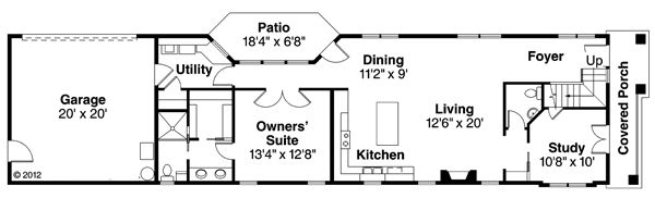House Plan Design - European Floor Plan - Main Floor Plan #124-876