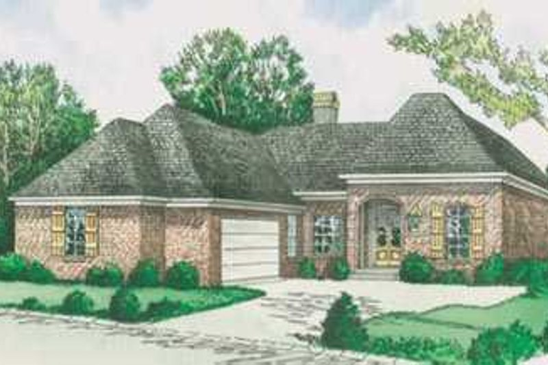 European Style House Plan - 4 Beds 2 Baths 2274 Sq/Ft Plan #15-151 Exterior - Front Elevation