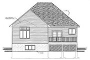 Traditional Style House Plan - 3 Beds 2 Baths 1228 Sq/Ft Plan #409-114 Exterior - Rear Elevation