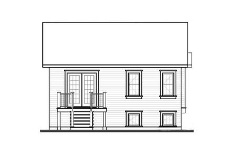 Ranch Exterior - Rear Elevation Plan #23-2200 - Houseplans.com