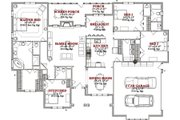 Southern Style House Plan - 3 Beds 3 Baths 2726 Sq/Ft Plan #63-349 Floor Plan - Main Floor Plan