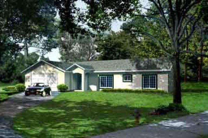 Adobe / Southwestern Style House Plan - 3 Beds 3 Baths 1564 Sq/Ft Plan #1-1018