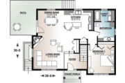 Country Style House Plan - 3 Beds 2 Baths 2134 Sq/Ft Plan #23-2685 Floor Plan - Main Floor