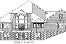 Dream House Plan - Traditional Exterior - Rear Elevation Plan #117-470