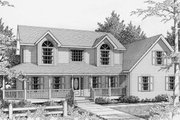 Traditional Style House Plan - 3 Beds 2.5 Baths 1840 Sq/Ft Plan #112-121
