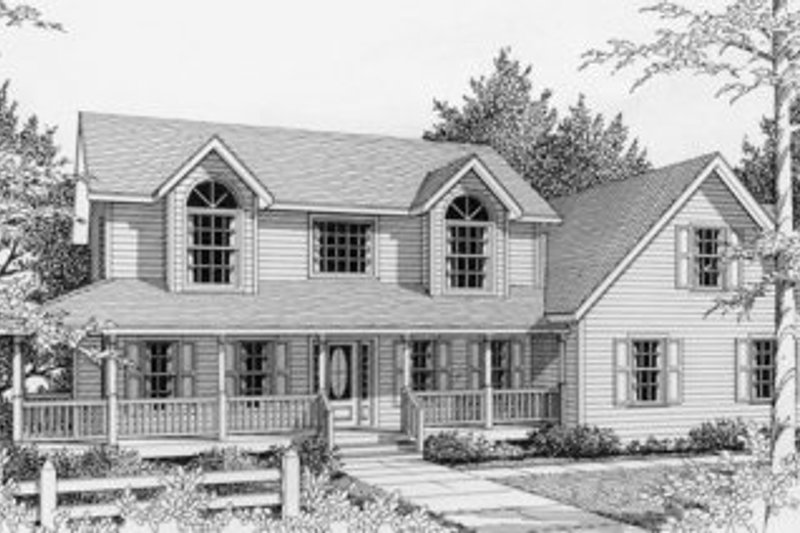 Traditional Style House Plan - 3 Beds 2.5 Baths 1840 Sq/Ft Plan #112-121 Exterior - Front Elevation