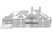 European Style House Plan - 6 Beds 5 Baths 2852 Sq/Ft Plan #5-319 Exterior - Rear Elevation