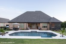 Home Plan - Traditional Exterior - Rear Elevation Plan #929-924