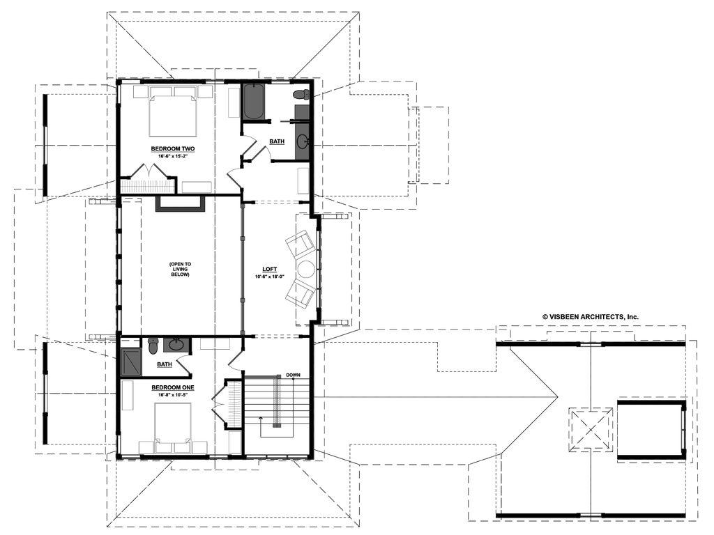 Farmhouse style house plan 3 beds 3 5 baths 3799 sq ft for 6 bedroom farmhouse floor plans