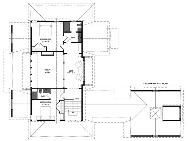 Farmhouse Floor Plan - Upper Floor Plan Plan #928-14