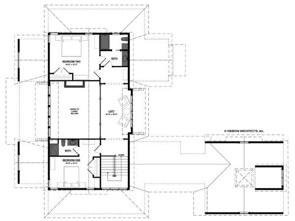 Farmhouse Floor Plan - Upper Floor Plan #928-14