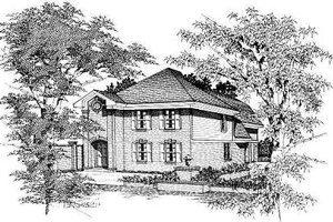 Colonial Exterior - Front Elevation Plan #329-202