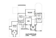 European Floor Plan - Upper Floor Plan Plan #20-2203