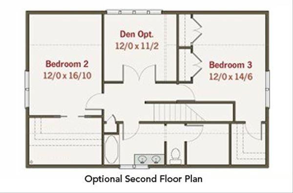 Craftsman Floor Plan - Other Floor Plan Plan #461-24