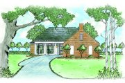 Cottage Style House Plan - 3 Beds 2 Baths 1381 Sq/Ft Plan #36-309 Exterior - Front Elevation