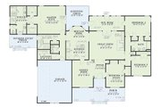 Traditional Style House Plan - 4 Beds 2.5 Baths 2742 Sq/Ft Plan #17-1020 Floor Plan - Main Floor Plan