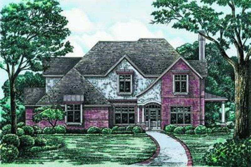 European Exterior - Front Elevation Plan #20-965