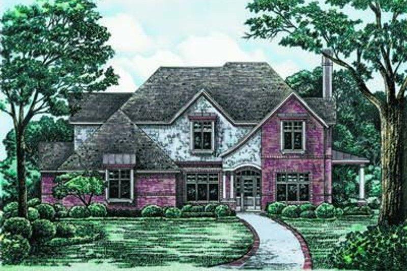 Dream House Plan - European Exterior - Front Elevation Plan #20-965