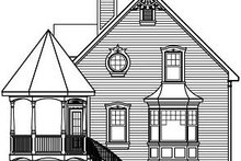Victorian Exterior - Rear Elevation Plan #23-714