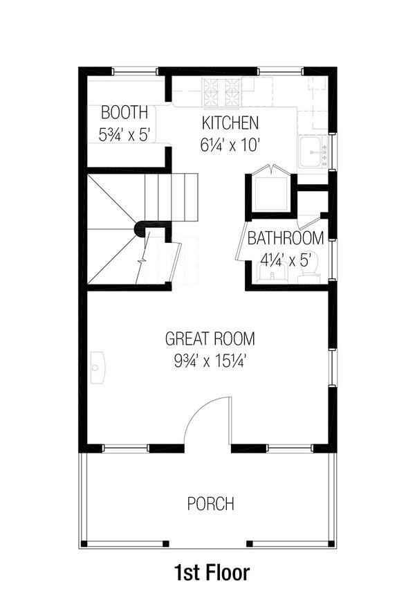 Cottage Floor Plan - Main Floor Plan #915-1