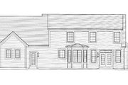 Cottage Style House Plan - 4 Beds 2.5 Baths 2659 Sq/Ft Plan #46-434 Exterior - Rear Elevation
