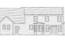 Cottage Exterior - Rear Elevation Plan #46-434
