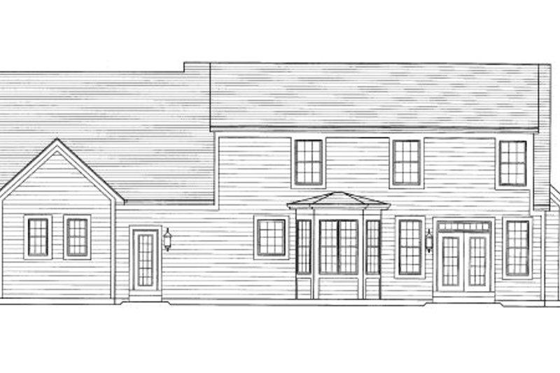 Cottage Exterior - Rear Elevation Plan #46-434 - Houseplans.com