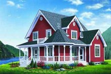 Dream House Plan - Traditional Exterior - Front Elevation Plan #23-612