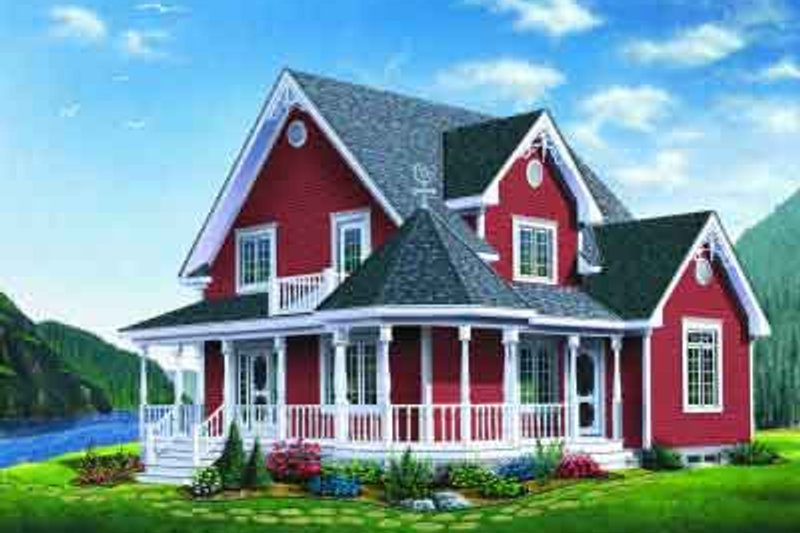 Traditional Exterior - Front Elevation Plan #23-612 - Houseplans.com