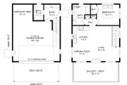 Contemporary Style House Plan - 1 Beds 2 Baths 881 Sq/Ft Plan #932-69
