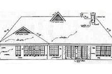Home Plan - European Exterior - Rear Elevation Plan #34-115