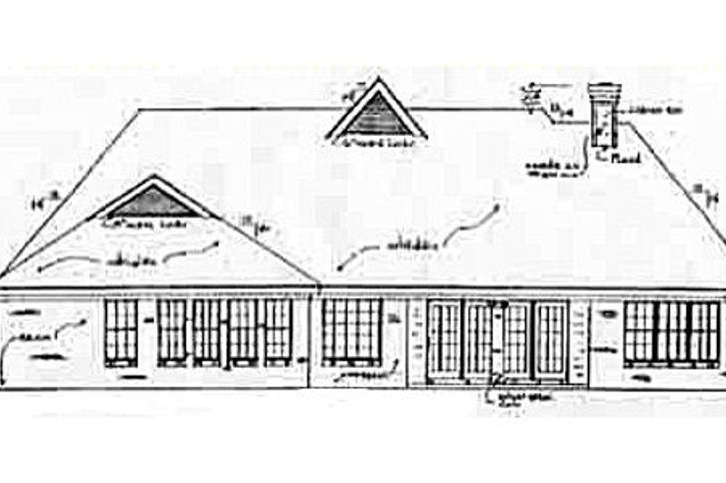 European Exterior - Rear Elevation Plan #34-115 - Houseplans.com