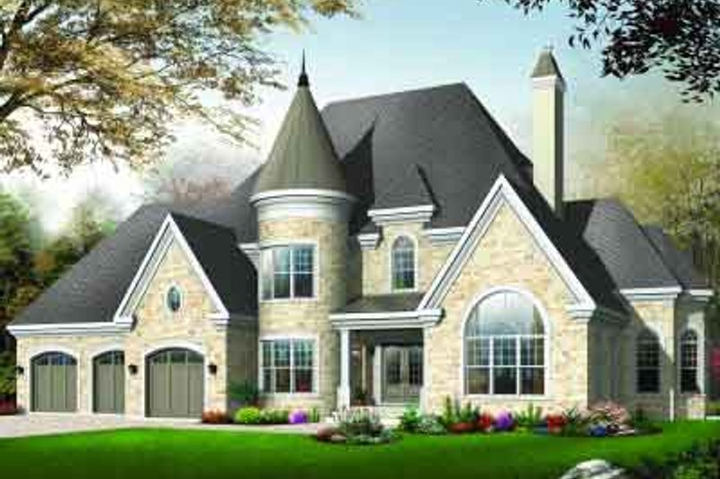 European Exterior - Front Elevation Plan #23-586