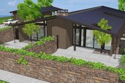 Modern Style House Plan - 3 Beds 2 Baths 2360 Sq/Ft Plan #544-3 Exterior - Other Elevation